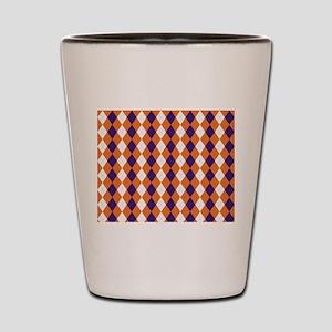 Orange and Purple Argyle Shot Glass