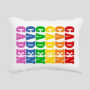 Rainbow Name Rectangular Canvas Pillow