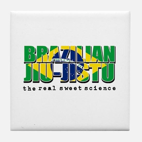 Brazilian Jiu Jitsu designs Tile Coaster