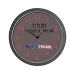 9/11 Tribute Forever United Wall Clock