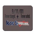 9/11 Tribute Forever United Mousepad