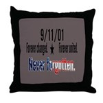 9/11 Tribute Forever United Throw Pillow