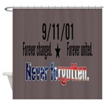 9/11 Tribute Forever United Shower Curtain