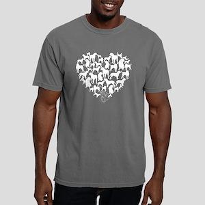 Dogue de Bordeaux Heart  Mens Comfort Colors Shirt