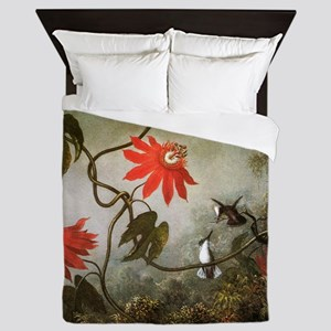 Passion Flowers and Hummingbirds Queen Duvet