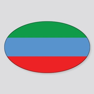 Dagestan Flag Sticker (Oval)