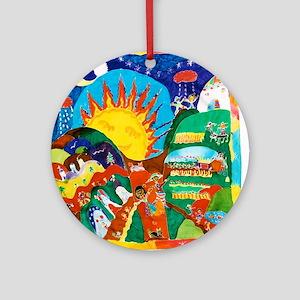 Guatemalan Sunrise Ornament (Round)