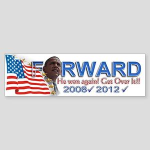 He won, AGAIN!: Sticker (Bumper)
