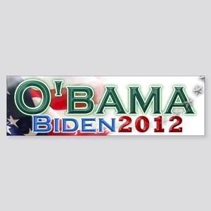 O'bama Biden 2012 Sticker (Bumper)