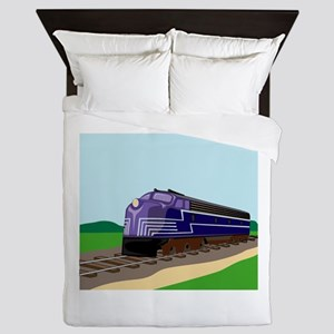 Train Queen Duvet