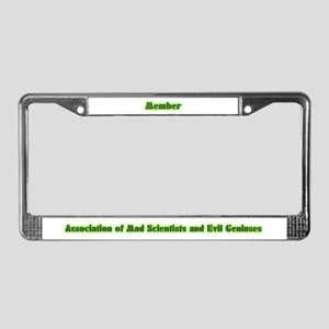 Mad Scientist and Evil Genius License Plate Frame