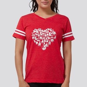 French Bulldog Heart T-shirt Womens Football Shirt