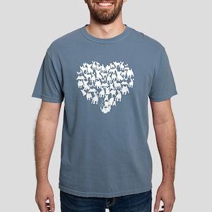 French Bulldog Heart T-s Mens Comfort Colors Shirt