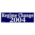 Regime Change 2004 Bumper Sticker