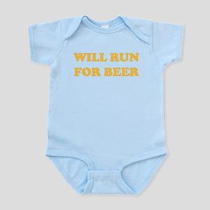 Will Run For Beer Infant Bodysuit