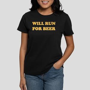 Will Run For Beer Women's Dark T-Shirt