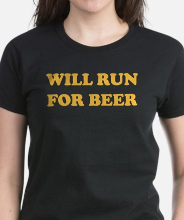 Will Run For Beer Women's Dark T-Shirt