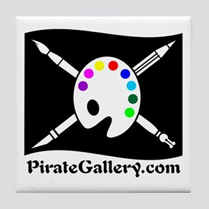 """""""THE PIRATE GALLERY"""" Tile Coaster"""