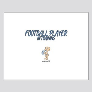 Football Player In Training Small Poster