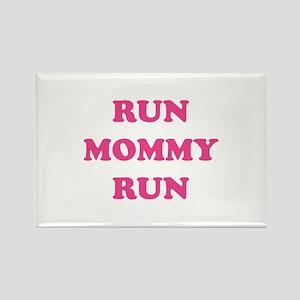 Run Mommy Run Rectangle Magnet