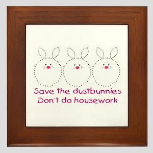 Save the dustbunnies Framed Tile