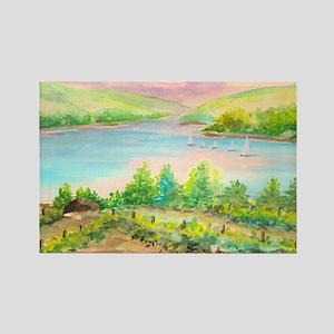 Keuka Lake Watercolor Rectangle Magnet