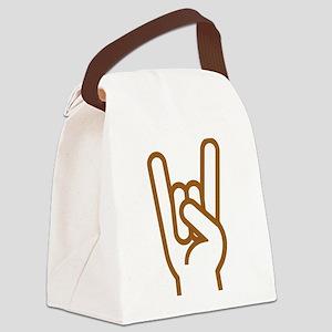 Metal Horns Canvas Lunch Bag