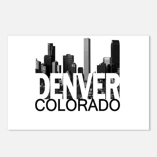 Denver Skyline Postcards (Package of 8)