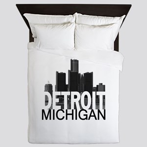Detroit Skyline Queen Duvet