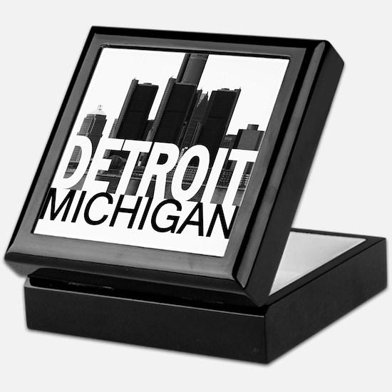 Detroit Skyline Keepsake Box