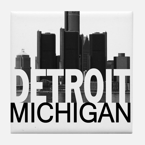 Detroit Skyline Tile Coaster