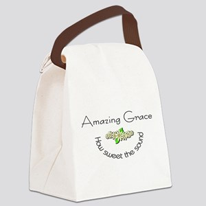 Amazing grace with flowers Canvas Lunch Bag