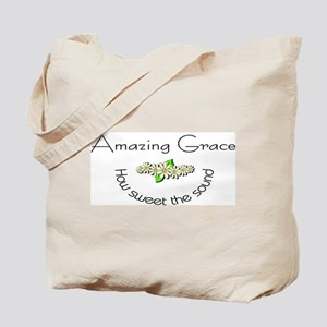 Amazing grace with flowers Tote Bag