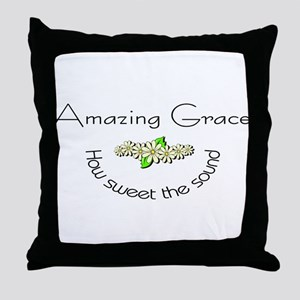 Amazing grace with flowers Throw Pillow