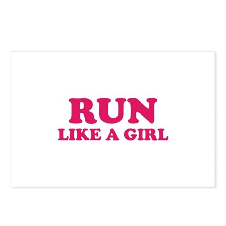 Run Like A Girl Postcards (Package of 8)