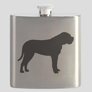 bullmastiff black Flask