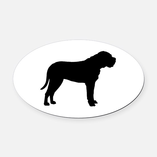 bullmastiff black.png Oval Car Magnet