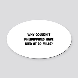 Pheidippides Miles Oval Car Magnet