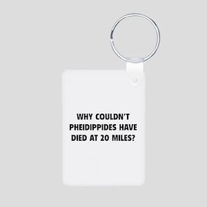 Pheidippides Miles Aluminum Photo Keychain