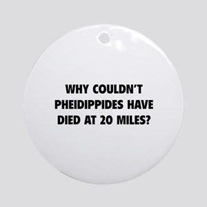 Pheidippides Miles Ornament (Round)