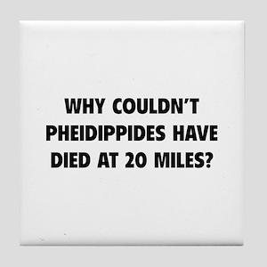 Pheidippides Miles Tile Coaster
