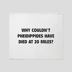 Pheidippides Miles Throw Blanket