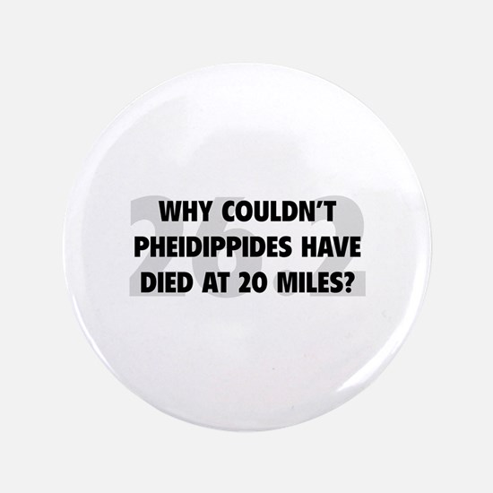 "Pheidippides Miles 3.5"" Button (100 pack)"
