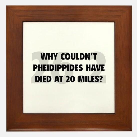 Pheidippides Miles Framed Tile