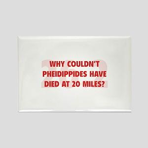 Pheidippides Miles Rectangle Magnet