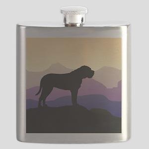 bullmastiff purple mt sq3 Flask
