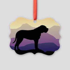 bullmastiff purple mt wd4 Picture Ornament