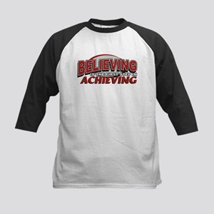 Believing is the first Step Kids Baseball Jersey