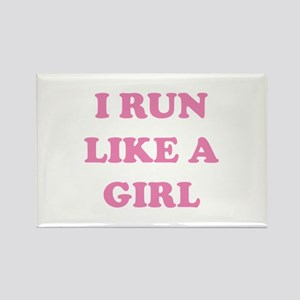I Run Like A Girl Rectangle Magnet