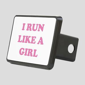I Run Like A Girl Rectangular Hitch Cover